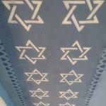 Een gedeelte van het plafond in de synagoge