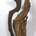 alter birnbaum - rostiges eisen - kupferdraht - 2013 - 110 cm hoch