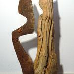 morschholz - rostiges eisen - kupferdraht - 2014 - 80 cm hoch