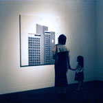 'Intercontinental' 150x150cm, oil on canvas (2003) installed at The Museum of Modern Art, Saitama (Japan), 2003