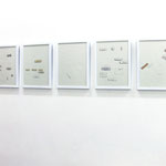 'Bandages I, II, III, VI, V' 45x32,5 cm x5 mixed media on paper, 2007