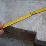 Abbruch der Betonplatte