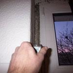 Die Wandtemperatur berträgt an der Stelle 8,5°C bei Außentemperaturen von -5°C.