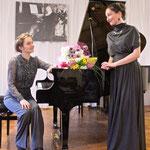 with soprano Tatiana Barsukova at the 26th Lyadov Festival (Borovichi, 2015). Photo by Victor Gun'kov