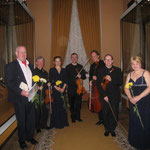 With John Gibson, Nika Ryabchinenko and RTE Vanbrugh Quartet after the concert in Kremlin (2012).