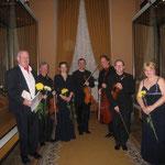 With John Gibson, Nika Ryabchinenko and RTE Vanbrugh Quartet after the concert in Kremlin (2012).