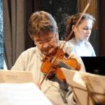 During the rehearsal with Auryn Quartet, Bantry (Ireland)