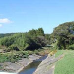 近くを流れる落合川