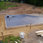 Vorbereitungen für die Bodenplatte
