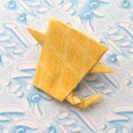 一反木綿バッジ_菱形黄色