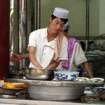 Harte Arbeit in Xi'an