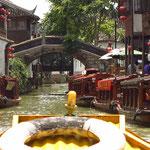 Bootsfahrt in Tongli; Westchina