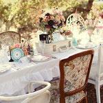 déco table mariage vintage source internet