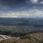 Vom Hafelekar aus hat man einen atemberaubenden Blick über Innsbruck und das Inntal