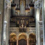 Orgelempore mit der Festorgel des Passauer Orgelbauers Johann Freundt, 1636-42 errichtet.