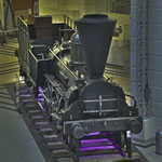 Die Personenzug-Dampflokomotive »Steinbrück« wurde 1848 von der Wien-Gloggnitzer Eisenbahn  gebaut
