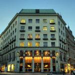Looshaus Wien: in der »Blauen Stunde«