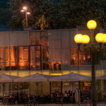 Das Pavillon-Restaurant am Landestheaterplatz