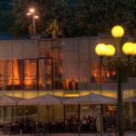 Das Pavillon-Restaurant am Landestheaterplatz