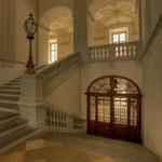 Zu den barocken Räumen führt die Haupt- oder Prälatenstiege