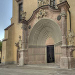 Frühgotische Portalnische der Stiftskirche nach barocker Umgestaltung