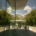 Ebenfalls von der Architektin Zahra Hadid geplant: die Baulichkeiten zur Hungerburgbahn