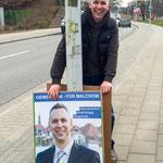 Aufhängen der Wahlplakate - vielen Dank an Ronald & Thomas & Matthias - 28.03.2015