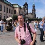 Hier sind wir in Dresden bei einem Familienausflug im August 2009.