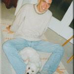 1999 - mit meiner ersten Hündin Aelly