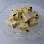 Fudge met noten en cranberry's