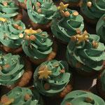 Mini cupcakes kerstboompjes
