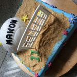 Beachvolleybal taart