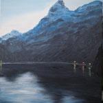 'Blue hour' at Trollfjord, Lofoten/Vesterålen