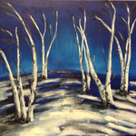 Birch trees in winter, 2014