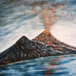 Vesuvius in action, Napoli, 2009, 60x72cm