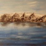 Iceland mountains at Husavik, 2012, 40*80cm