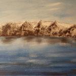 Iceland mountains at Husavik, 2012, 40*80cm