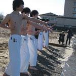琵琶湖に突入!
