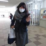 増岡先輩は島根に帰られました・・
