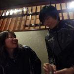 藤山先輩からも4回生にお一人ずつお酒をいただきました