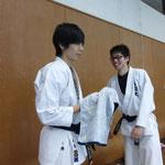 いい笑顔の篠田と私