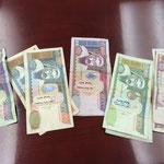 モンゴルでは紙幣だけ。コインはない。財布をもたないので落とすから? 冬触るのが寒いから?