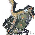 NANTES (44) / Aménagement du parc de la Chézine - Quartier des dervallières / 1999-2005 / Ville de Nantes - GEPA OUEST / Mandataire : J-F REVERT  / Mission Esquisse B.POURRAIN pour Ingénieurs&Paysages