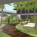 PAQUEBOT/ Aménagement d'une palmeraie / 2012 / SEINE ALLIANCE / Surface : 1400m2 / Budget : non défini / Mission : Esquisse - LFDP : B.POURRAIN