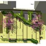 PARIS 17ème/ Aménagement d'un patio sur dalle - Immeuble rue des Condamines / 2011 / BJA Architectes /  Budget : 90 000€ HT / Mission : APS - LFDP : B.POURRAIN