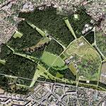 CHÂTENAY-MALABRY (92) / Réaménagement du parc de la Vallée-aux-loups / 1999-2005 / C.G. des Hauts-de-Seine / Partenaires  : CONFLUENCES et GAUDRIOT / Surface : 110 ha / Budget : 11 M€ HT / Mission Concours B.POURRAIN pour Ingénieurs&Paysages