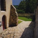 VERNOU-LA-CELLE-SUR-SEINE (77) / Aménagement de la place de l'église / Maîtrise d'ouvrage: Ville de Vernou-la-Celle-sur-Seine / Partenaires: L. SCIASCIA, bet CHARRE (esq) / Date: 1996/ Surface: 1 500m²/ Budget : 305 000 € HT / Mission: esquisse B.POURRAIN