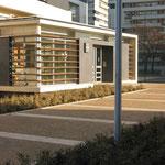 PARIS 19ème / Résidentialisation Cité CURIAL-CAMBRAI / 1999-2005 / OPAC DE PARIS / Mandataire : BJA Architectes / Surface : 2800m2 / Budget : 0,25 M€ HT / Mission Complète B.POURRAIN pour Ingénieurs&Paysages