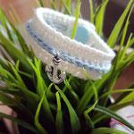 Kinderarmband mit verschiedenen Glücksbringern für Kinder. Zum Beispiel der Anker, welcher für Verbundenheit und Halt steht.
