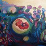 El Jardín de la Madre Tierra - Óleo y mixta sobre lienzo - 162 x 130 cm.